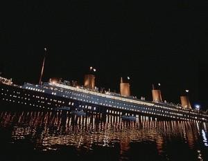 영화 타이타닉(제임스 카메론, 1997)의 한 장면