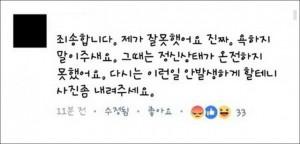 ▲ 네티즌들의 공분을 산 부산 여중생 가해학생 A양의 SNS 댓글, 이미지 출처 - 온라인 커뮤니티