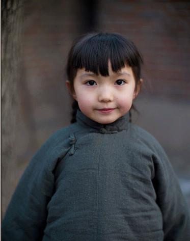 중국 아이의 눈