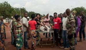 부상을 당한 아프리카 전사