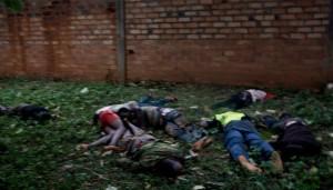 살해당해 버려진아프리카 주민들