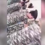 ▲ 논란의 중국 대학 군사훈련