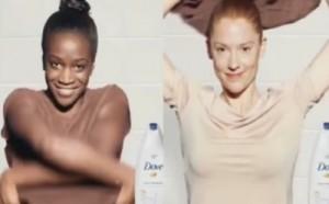 ▲ 논란이 된 도브의 흑인 여성 인종차별 광고