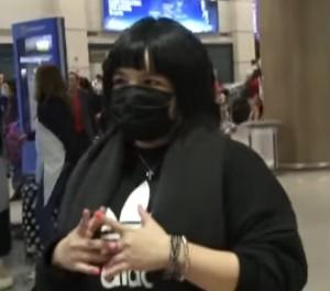 ▲ 20일 오전 입국한 에이미. 이미지 출처 - 유튜브 캡쳐