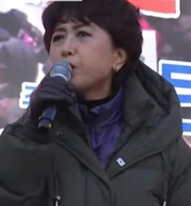 ▲ 정미홍 전 KBS 아나운서의 모습. 이미지 - 유튜브 캡쳐