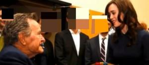 ▲ 부시 전 대통령(좌)과 헤더 린드(우)