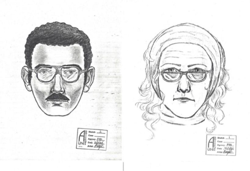 ▲ 1985년 그림을 훔쳐간 것으로 추정되는 범인의 몽타주. 이 몽타주는 31년 간 빈 캔버스 위에 부착되어 있었다.