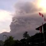 ▲ 7900m 상공까지 치솟은 아궁산 화산재