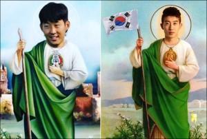 ▲ 멕시코 팬들이 합성한 손흥민, 조현우의 사진. 출처 - 인스타그램