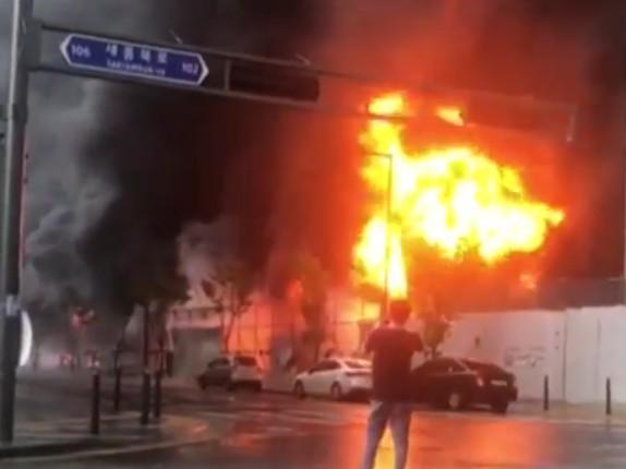 ▲ 세종시 새롬동에서 발생한 화재