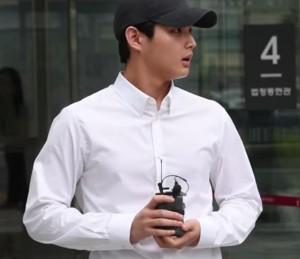 ▲ 여배우 성추행 및 협박 혐의로 첫 공판에 참석한 이서원