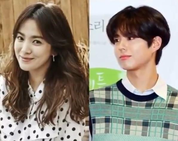 드라마 '남자친구' 대본리딩에 참석한 송혜교와 박보검