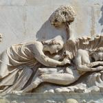 아담의 갈비뼈를 제거하는 신의 모습을 그린 그림. 케임브리지대학 제공